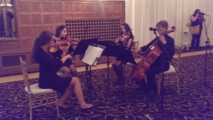 A delightful high school string quartet