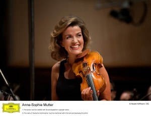 Anne-Sophie Mutter, photo courtesy of the artist's website