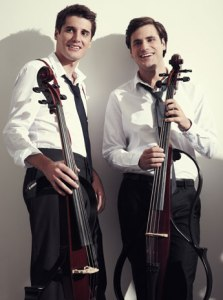 2CELLOS, photo courtesy of artists' website.