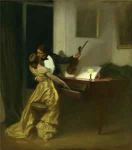 Kreutzer Sonata, 1901, René François Xavier Prinet, image courtesy of Wikimedia Commons